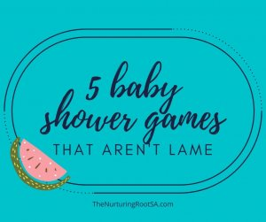 baby shower games that aren't lame