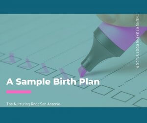 a sample birth plan